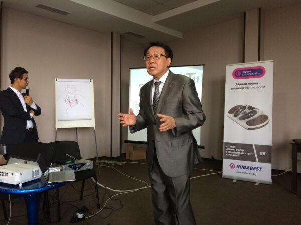 Ким Джи Хо, ръководител на Департамента по международно развитие на Nuga Medical Co Ltd