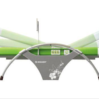 Оборудването Нуга Бест включва в себе си четири продукта, които използвани едновременно, увеличават ефекта от въздействието: вътрешен проектор, външен проектор, турманиева подложка и нискочестотен колан-миостимулатор.