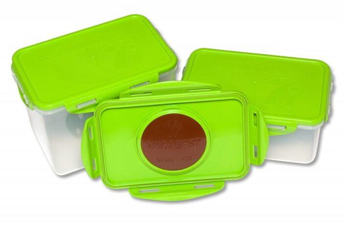 Капакът на контейнера е с диск от турманиева керамика НУГА БЕСТ.