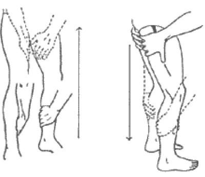 Фиг. 8 Низходящ масаж на краката